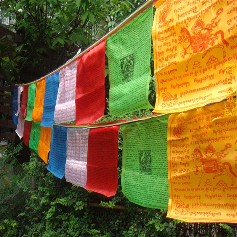 Tibetansk buddhistisk bönflagga Silkfärgtryck 3,5 meter 10 st / - Heminredning - Foto 4