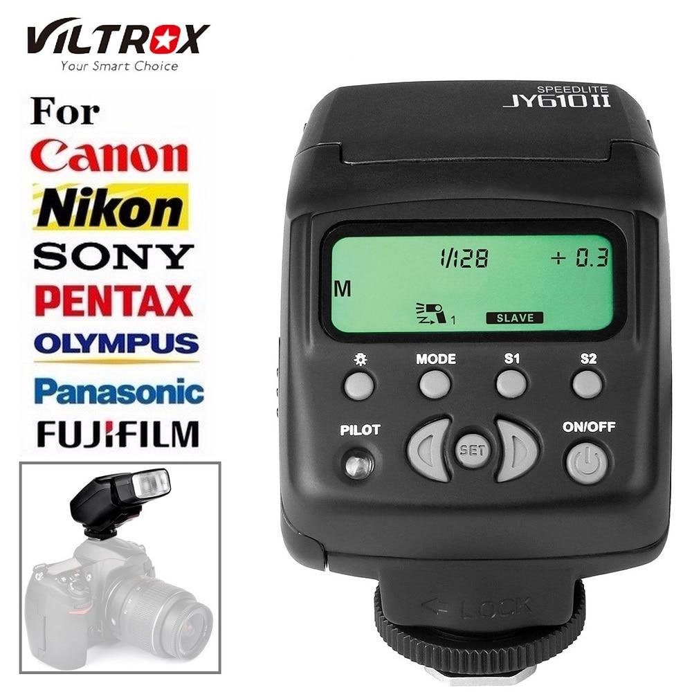 Prix pour Viltrox JY-610II JY610 II Mini Universal Flash Speedlite pour Canon Nikon Sony Pentax Olympus Fujifilm Panasonic DSLR Caméra