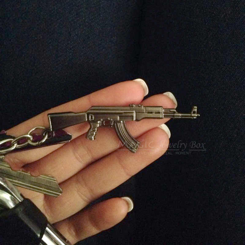 ¡Novedad de 2019! Llavero CS GO Gun AK47 para hombre, llavero de regalo de Souvenirs de joyería para hombre