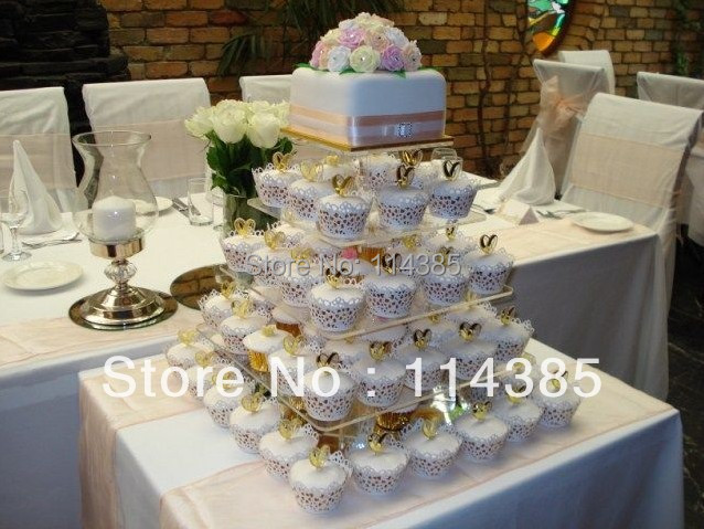 5 Tier Square Acrylic Cupcake Stand 5 Tier Square Wedding