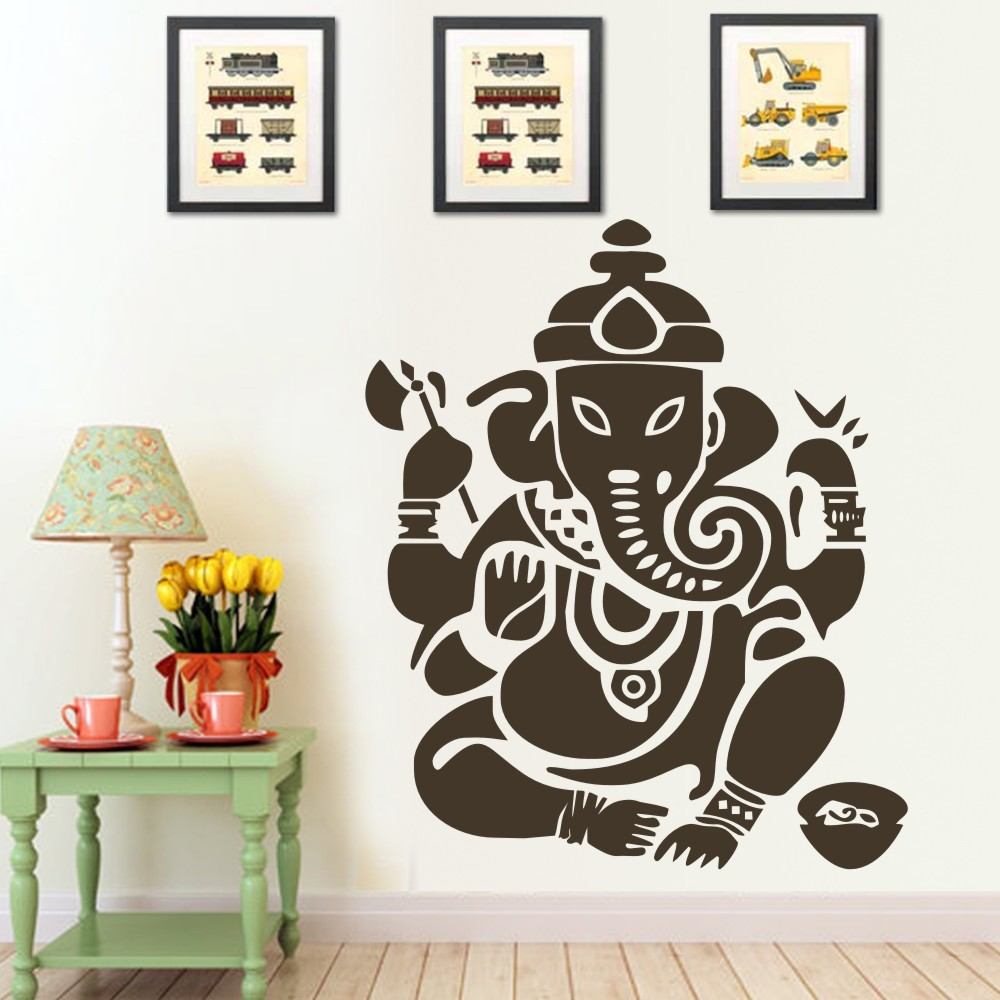 Bike stickers design india - Wall Decal Art Decor Sticker Ganesh Buddhism India Indian Namaste Buddha Om Yoga Success God Lord 54 H X 47 W Black In Wall Stickers From Home Garden On