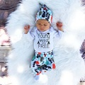 2016 Spring and Autumn baby boy girl clothes casual clothes 3 pcs. (Hat + romper + pants) christmas boys clothing sets