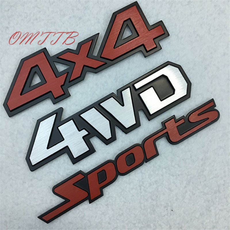 3D Metal 4WD 4X4 sport Emblem Badge All Wheel Drive Auto Decal car Sticker for JEEP Patriot Wrangler Compass Prado car Styling mayitr metal 3d black limited edition sticker universal car auto body emblem badge sticker decal chrome emblem car styling