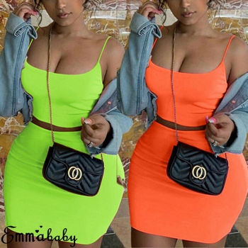 2 piece set women festival clothing two pieces sets sexy neon crop tops and skirt set co ord tracksuits matching sets