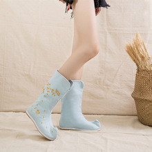 2018 fall fashion new cotton boots warm comfort leisure anime embroidery cherry
