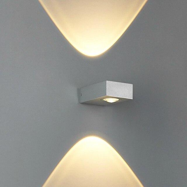 up down light 2 3w led wall lighting aluminum gold sliver black led