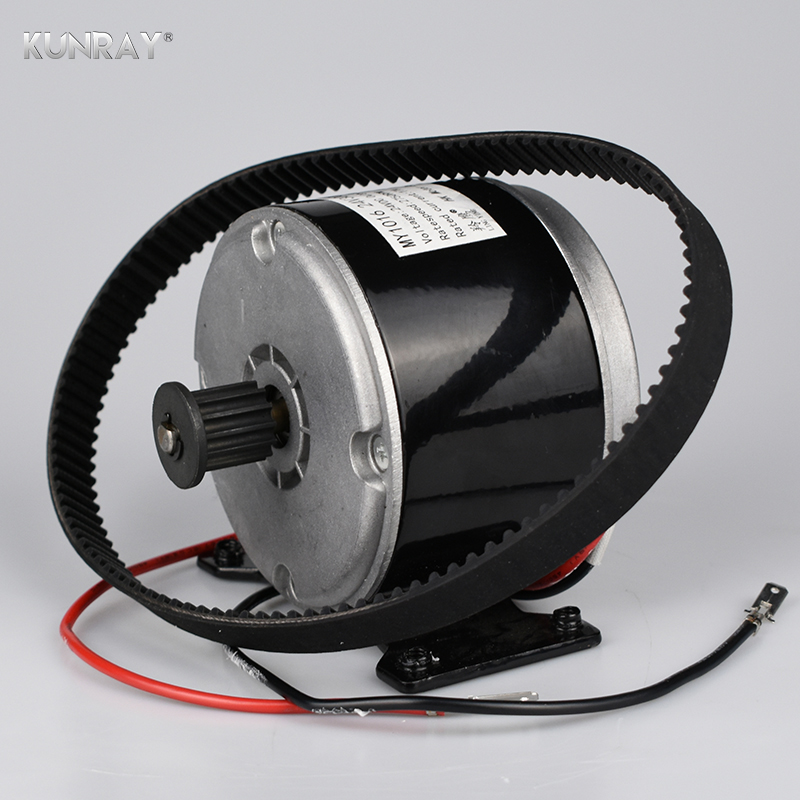 LINGYING MOTOR MY1016 24V 300W DC Brushed Motor Electric Scooter Motor 5M Belt Wheel Sprocket Motors For Scooter Electric Bike hot sale my1020 500w 24v electric scooter motors dc gear brushed motor electric bike conversion kit