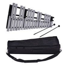 Foldable 30 Note Glockenspiel Xylophone Wooden Frame Aluminum Bars Educational Percussion Musical Instrument Gift(China)
