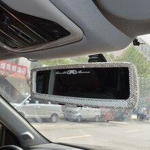 4 цвета Алмазный Rhinestone зеркало заднего вида Универсальная Широкий формат зеркало заднего вида автомобиля Стиль подкладке зеркала Зеркало заднего вида