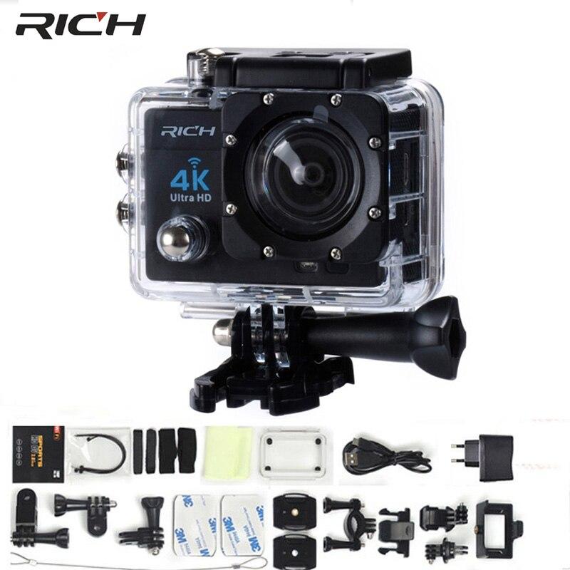 wholesale Free DHL Action Camera 4K WIFI 170 HD Wide Angle Lens Full HD 1080P 8MP Waterproof 30M Combo Ultra Sport Camera