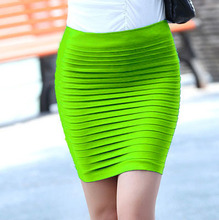 Cheapest Free Shipping New Fashion 2019 Summer Women Skirt High Waist Candy Color Plus Size Elastic Pleated Sexy Short Skirt