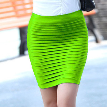 Cheapest Free Shipping New Fashion 2019 Summer Women Skirt High Waist Candy Color Plus Size Elastic Pleated Sexy Short Skirt 6