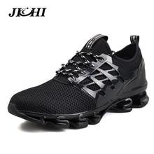 2019 Spring Men Casual Shoes Outdoor Breathable Jogging Sport Blade Shoes Fashion Men Walking Sneakers Big Size 39-47 Men