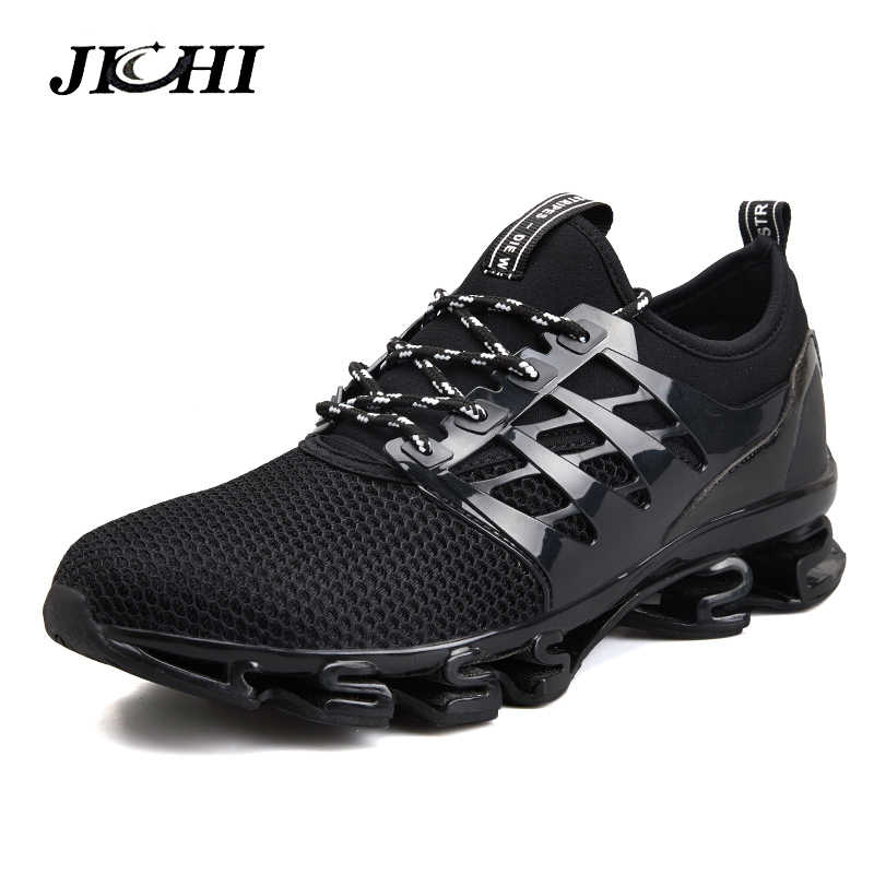2019 Весна Для мужчин повседневная обувь из дышащего материала для бега спортивная обувь blade модные Для мужчин Прогулочные кроссовки большой Размеры; большие размеры 39-47 Для мужчин