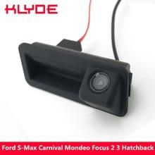 Klyde 170 градусов Водонепроницаемый Ночное Видение заднего вида Обратный Парковка Камера для Ford S-MAX карнавал Mondeo/фокусировки 2 3 Hatchback