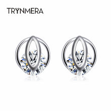 Trynmera 2019 new jewelry stud earrings color Statement earring for Girls gift for woman(China)