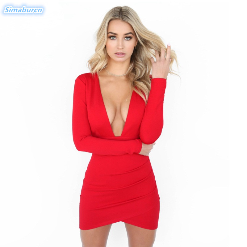 <font><b>2018</b></font> Summer <font><b>Women</b></font> <font><b>Dress</b></font> <font><b>Sexy</b></font> Deep <font><b>V</b></font>-<font><b>Neck</b></font> Mini <font><b>Dress</b></font> Backless Sheath <font><b>Bodycon</b></font> Package Hip Black <font><b>Autumn</b></font> <font><b>Dresses</b></font> <font><b>Ladies</b></font> Vestidos image
