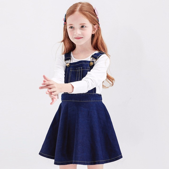 2017 Big Girls Dresses Spring Summer Cute Fashion Overalls Kids Boutique  Dress for Age 45678910 11 12 13 14 Years Old 0feb2293858e