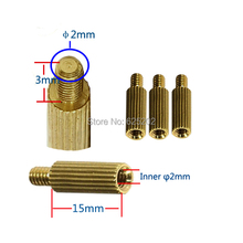Factory direct sales 15mm Lengh M2*15+3 Copper Cylinder for cctv casmera use assembly