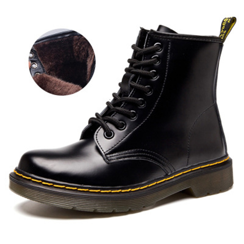Hot Brand women s Boots Martens Leather Winter Warm Shoes Motorcycle womens Ankle Boot Doc Martins Fur Couple Oxfords Shoes Hot Brand women s Boots Martens Leather Winter Warm Shoes Motorcycle womens Ankle Boot Doc Martins Fur Couple Oxfords Shoes