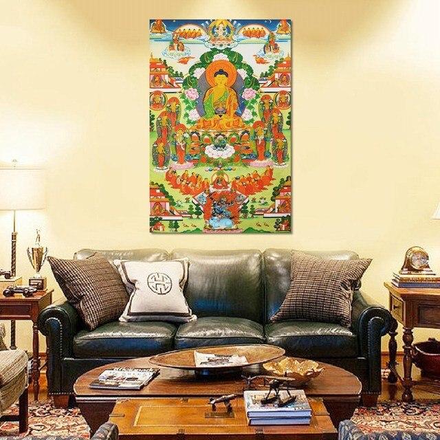 Tibet Cloth Silk Embroidery Shakyamuni Amitabha Buddha Tibetan ...
