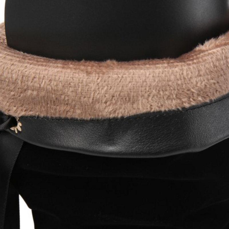 Cuña Piel Mujeres 32 Moda Nuevos Invierno Caliente Tacón Zapatos Mujer Negro Kemekiss Tamaño 43 Interior De Alto Botas Talón qgOO1v