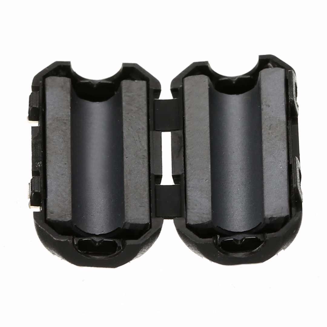 5 قطعة الأسود الفريت الأساسية كابل تصفية النيكل الزنك الضوضاء القامع EMI RFI كليب الاختناق الفريت مرشحات 3.5 مللي متر