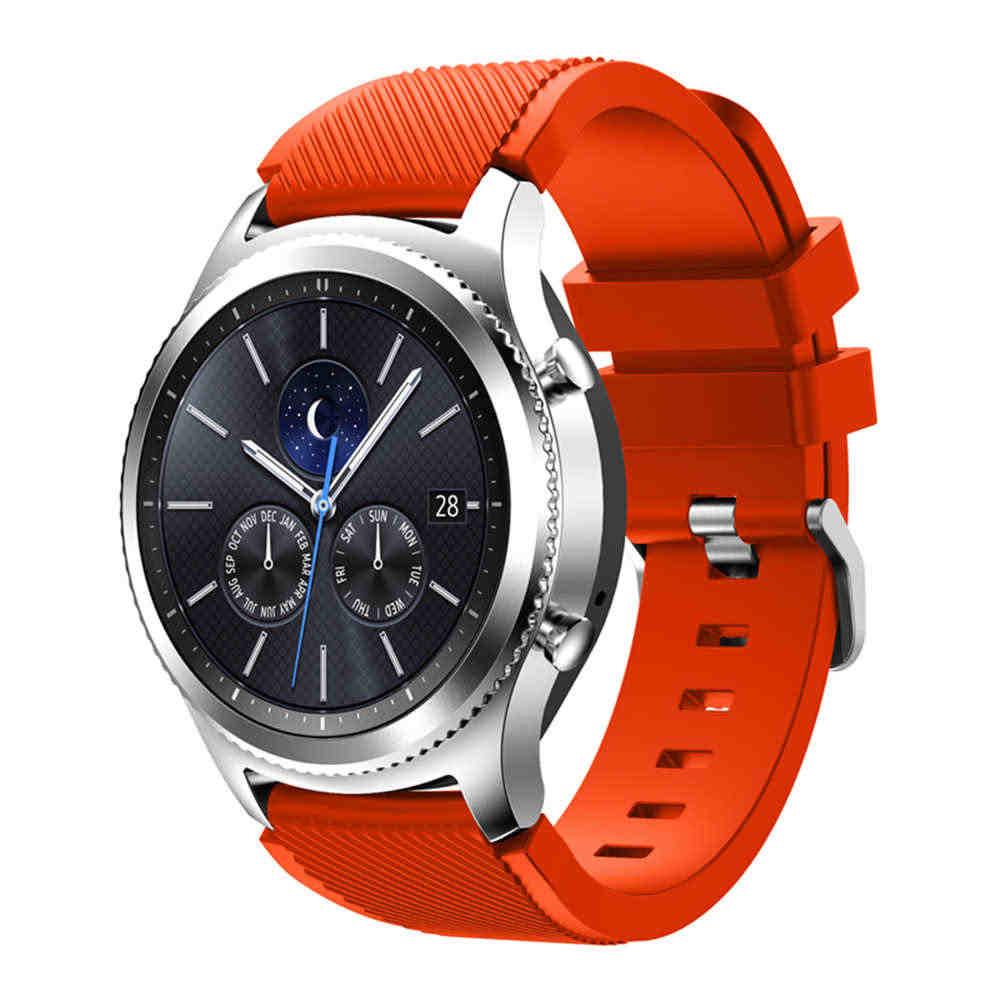 """ספורט שעונים סיליקון צמיד רצועת להקת עבור Samsung הילוך S3 Frontier קלאסי 22 מ""""מ wristbands עבור Huami Amazfit סטרטוס 2 2 s"""