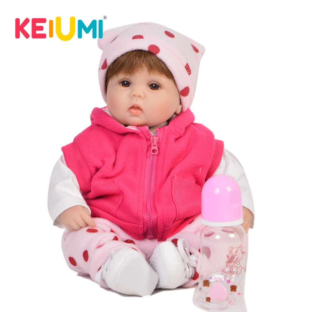 New Arrival 17 42 cm Reborn Girl Baby Doll Silicone Soft Lifelike Princess Doll Babies Newborn