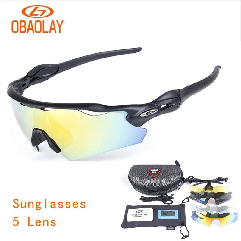 3ea365eeb635b Óculos de Ciclismo Esportes ao ar Obaolay Óculos Polarizados Óculos de  Livre 5 Lente 4 Cor 1 Conjunto da Bicicleta Sol