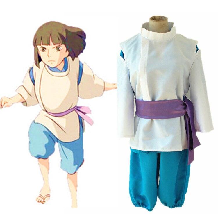 Le voyage de Chihiro Cosplay Costume Sen à Chihiro pas kamikakushi Vêtements Ensemble Cosplay Avec Cheveux 18