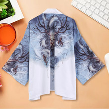 Japanese Kimono Cardigan National Print Loose Jacket Yukata Coat Baggy Tops Summer Autumn Blouses men streetwear jacket