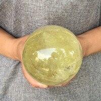 95 100 мм натуральный цитрин сфере кварц хрустальный шар Исцеление для украшения