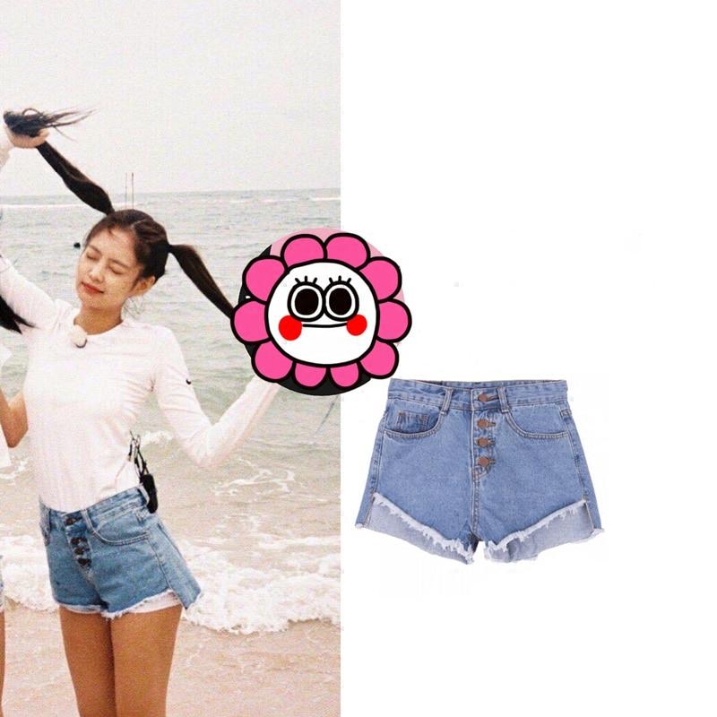 83e2001cd593d US $22.98 20% OFF|kpop Blackpink JENNIE same streetwear Harajuku sexy  shorts women 2019 summer korean casual high waist shorts girl sweet  clothes-in ...