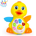 New Huile Toys 808 Dancing Duck Battery Operated Toy Figure Action Toy With Flashing Lights Electric Universal Musical Baby Toys