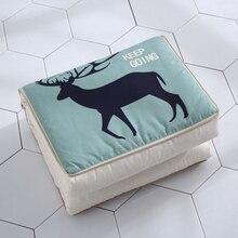 1 шт. Складная наволочка с изображением оленя одеяло Фламинго декоративная Экологичная зеленая наволочка для дивана наволочка мягкая наволочка одеяло