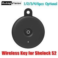 Güvenlik ve Koruma'ten Elektrikli Kilit'de Kablosuz anahtar kart Sherlock için akıllı kapı kilidi S2  Kapı Uzaktan Kumanda Anahtarı  aksesuar/Yedek parçalar için Sherlock S2 Akıllı Kilit