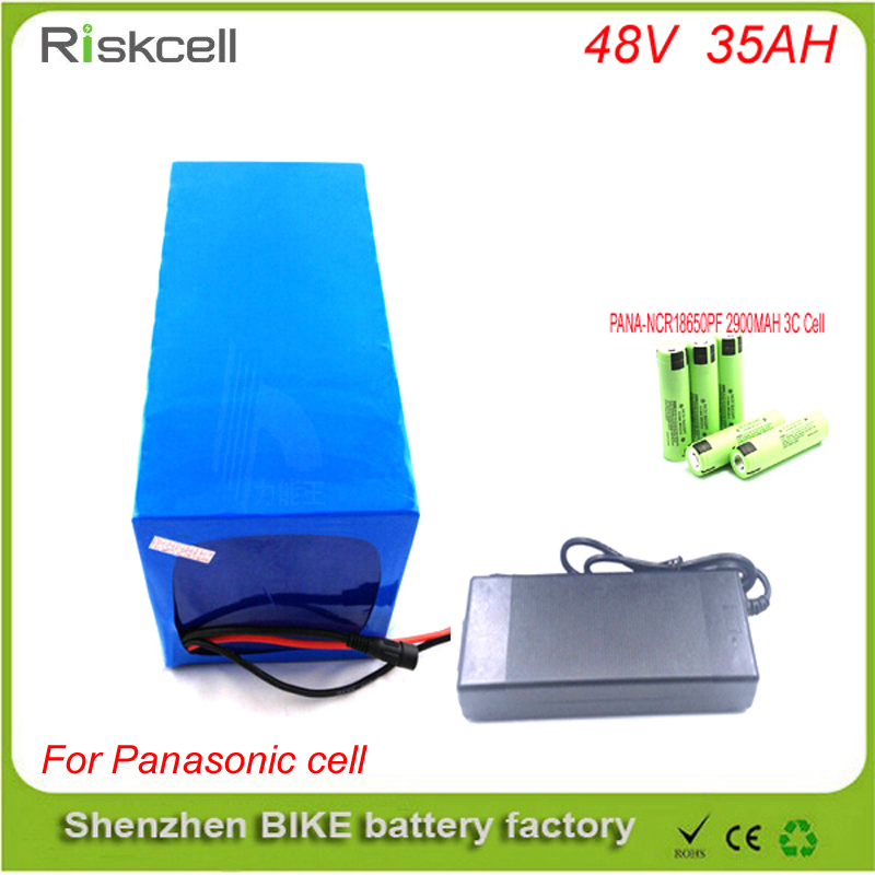 Free customs taxes  customized deep cycle lithium battery 2000W electric bike battery 48v 35ah ebike battery For  Panasonic Cell free customs taxes powerful 48v 1000w electric bike battery pack li ion 48v 34ah batteries for electric scooter for lg cell