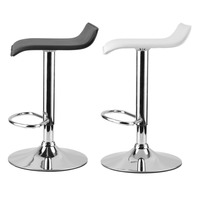 2PCS Modern Gas Bar Swivel Dinning Chair Bar Stools Adjustable Height Foot Rest Electroplating Iron Easy Installation