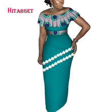 Hitarget Danshiki African Women Dresses with Lace and Splicing  Traditional Clothing for Party/wedding nigerian WY4223