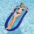 Портативный надувной матрас для плавания летний Воздушный Гамак для воды бассейн гостиная водная плавающая кровать пляжный стул плаватель...