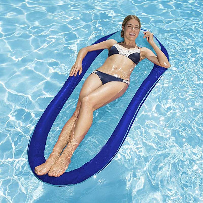 Matelas gonflable de plage de lit flottant d'eau de piscine de hamac d'eau d'été de flotteur gonflable portatif de piscine