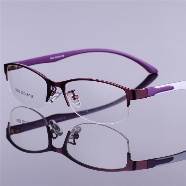 Retro Mulheres Óculos de Armação Limpar Lens Óculos Armações Oculos de grau Liga de Negócios de Luxo Do Vintage Escritório Vermelho Óculos