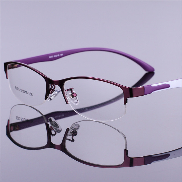 Retro Women Glasses Frame Clear Lens Oculos De Grau Alloy Luxury Business Eye Glasses Optical Frames Vintage Red Office Eyewear