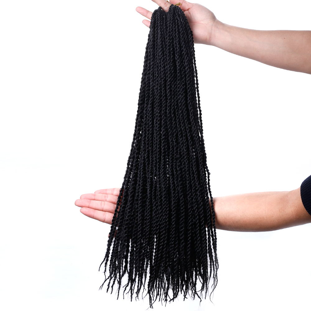 Buy Pageup 30 Roots Senegalese Twist Crochet Braid Hair Extensions High Temperature Fiber Synthetic Braiding Hair for only 7.55 USD
