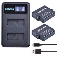 2pcs 3 85V 1600mAh Fully Decoded Gopro Hero 5 Battery Pack AHDBT 501 Akku And LCD