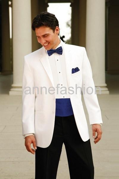 2017-Free shoping Custom suit Groom Tuxedos Groomsmen wedding suit Notch Collar Men Wedding Suits(Jacket+Pants+Tie+Girdle)