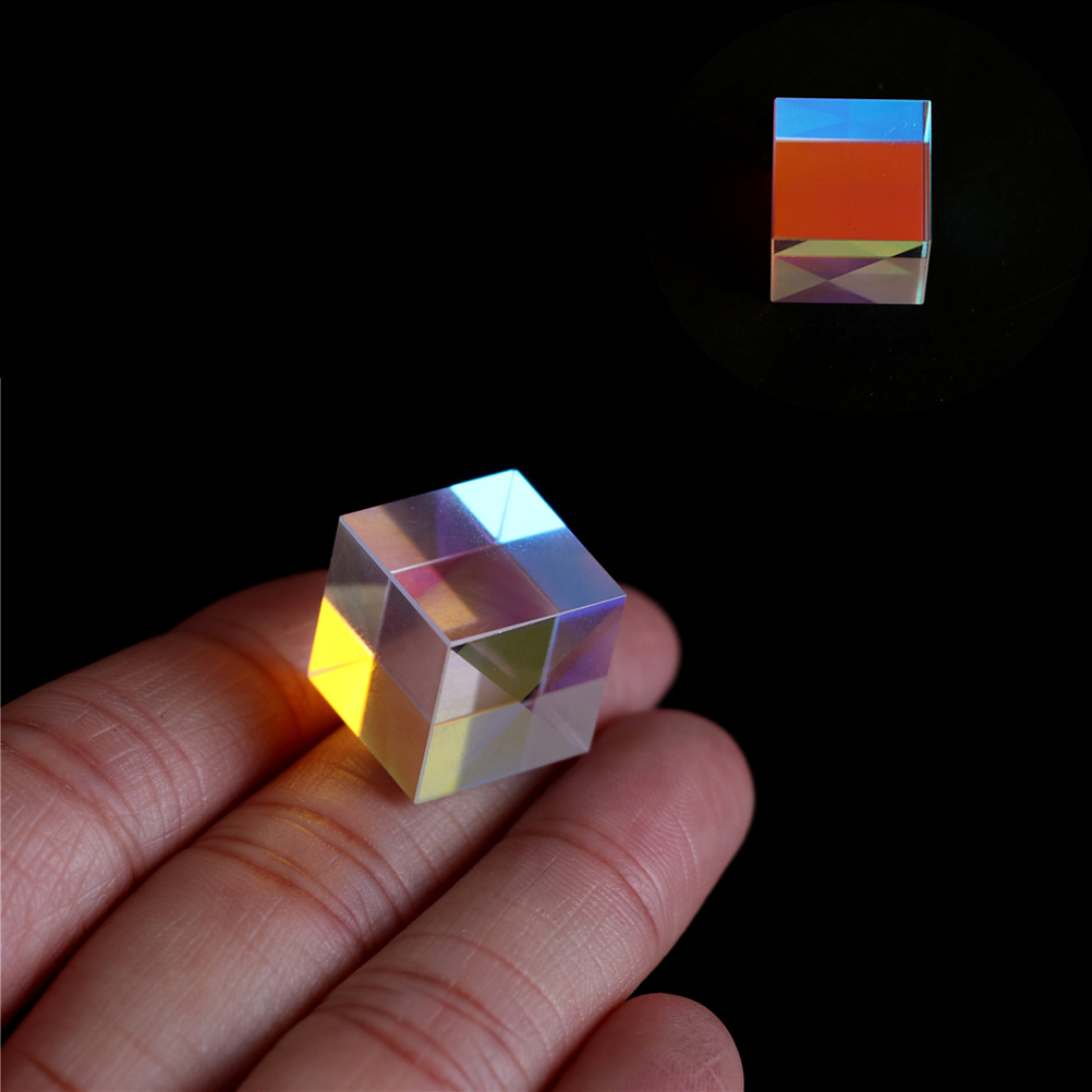 1pcs Prism Laser Beam Combine Cube Prism for 405nm~ 450nm Blue Laser Diode 5W for Optical Instruments Prism Mirror
