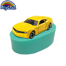 Car shape silicone molds for cake decorating chocolate fondant mold sports racing cars soap polymer clay mould baking tools