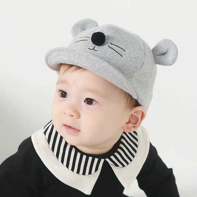 Algodón lindo bebé visera orejas de gato de dibujos animados niños gorra de  béisbol niños sombreros 8f9a32413c3e